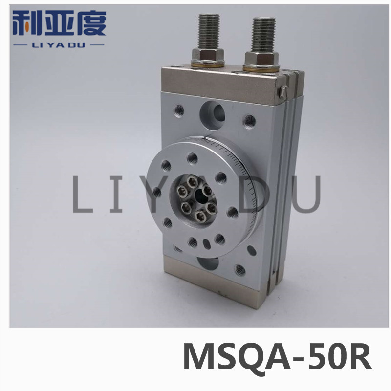 SMC type MSQA-50R rack and pinion type cylinder / rotary cylinder /oscillating cylinder, with a hydraulic buffer MSQA 50R smc type cylinder msqb 50a rotary table rack and pinion type bore size 25mm accept custom air cylinder smc cylinder