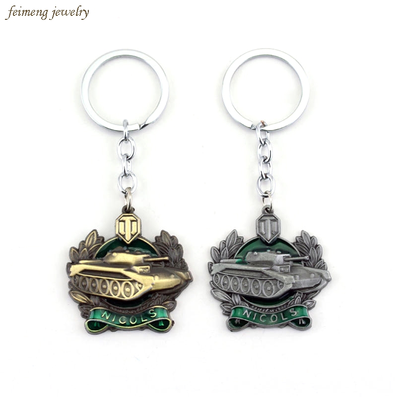 3 style WOT Online Game World of Tanks Keychain Keyrings Llavero For Men Portachiavi Porte Clef Marque Christmas Gift key holder