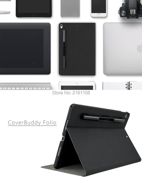 size 40 28c9f d5c61 US $34.99 |New 2018 CoverBuddy Folio Leather Cover Flip Case For iPad Pro  10.5 Apple Pencil Holder Smart Cover-in Tablets & e-Books Case from  Computer ...