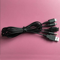 100pcs a lot USB Universal Multifunction 7 in 1 portable charging cable for PSP 2000 3000 for ND SL/I for 3DS for SP