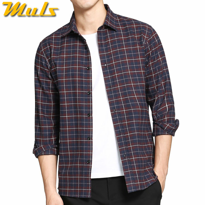 2018 Autumn New Mens Plaid Shirt Male Slim Fit Long Sleeve Shirts Tops Men Gray Black Casual Business Shirt M-2xl Refreshment Casual Shirts