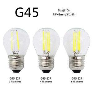 Image 2 - A60 G45 винтажная приглушаемая Светодиодная лампа накаливания E27 COB лампы 2/4/6/8 нити 220 в 230 В лампа 10 Вт 15 Вт 20 Вт 25 Вт