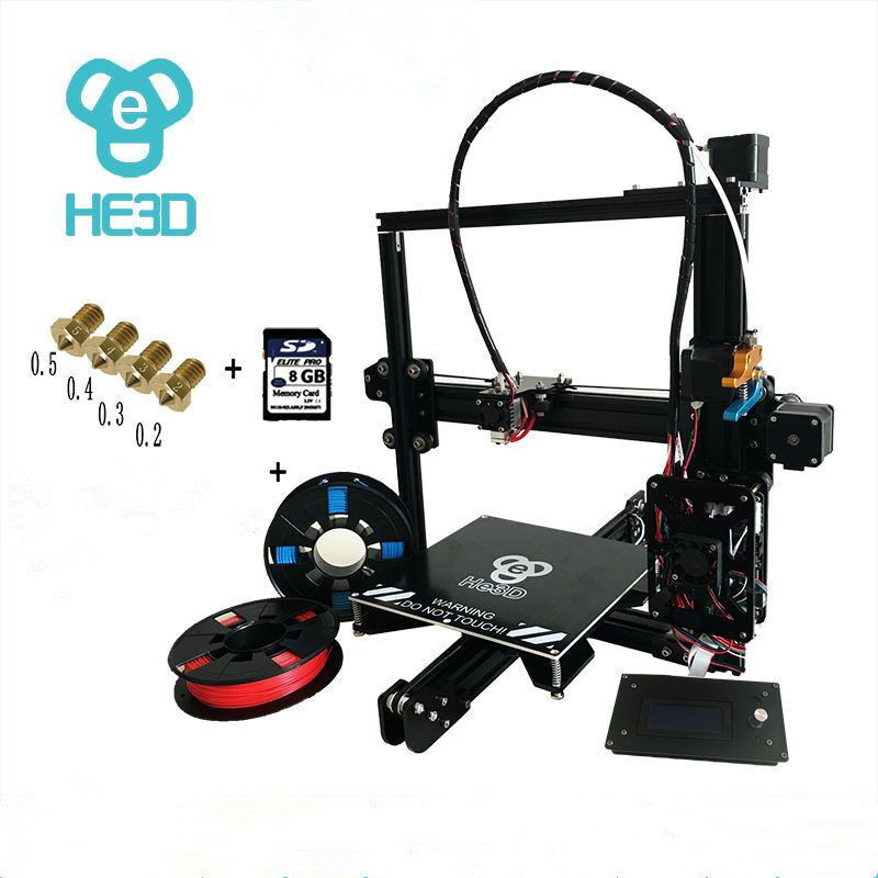 2017 Newest HE3D I3 Aluminium Extrusion reprap 3D Printer kit printer 3d printing 2 Rolls Filament 8GB SD card LCD As Gift ship from european warehouse flsun3d 3d printer auto leveling i3 3d printer kit heated bed two rolls filament sd card gift
