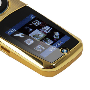 "Image 5 - Mosthink W760 Flip Mobile Phone Dual SIM Cards 1.77"" Mini Metal Body Car style Camera Single Core Button Russian Keyboard Phone"