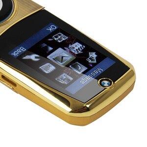 """Image 5 - Mosthink W760, teléfono móvil con tapa, tarjetas SIM duales, 1,77 """", Mini cuerpo de Metal, cámara estilo coche, botón de núcleo único, teléfono con teclado ruso"""
