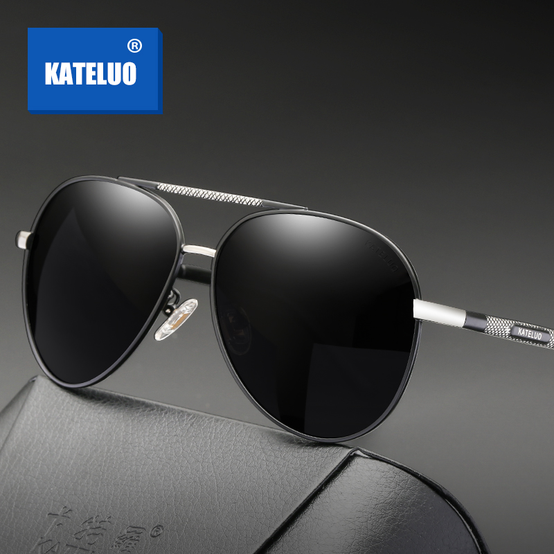 KATELUO Brand Classic Mens Sunglasses Military Quality Polarized Lens UV400 Male Sun Glasses For Men Eyewear Accessories 6601