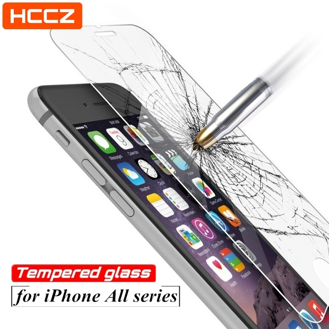 HCCZ for iPhone 6 6s Plus Screen Protector for iPhone 7 8 Plus Tempered Glass for iPhone 5 5s SE iPhone X 2.5D Protective Film