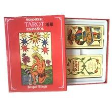 Іспанська таро настільна гра 78 + 22 ПК / Комплект карт високої якості Ігри таро з інструкціями з англійської / французької / іспанської версії