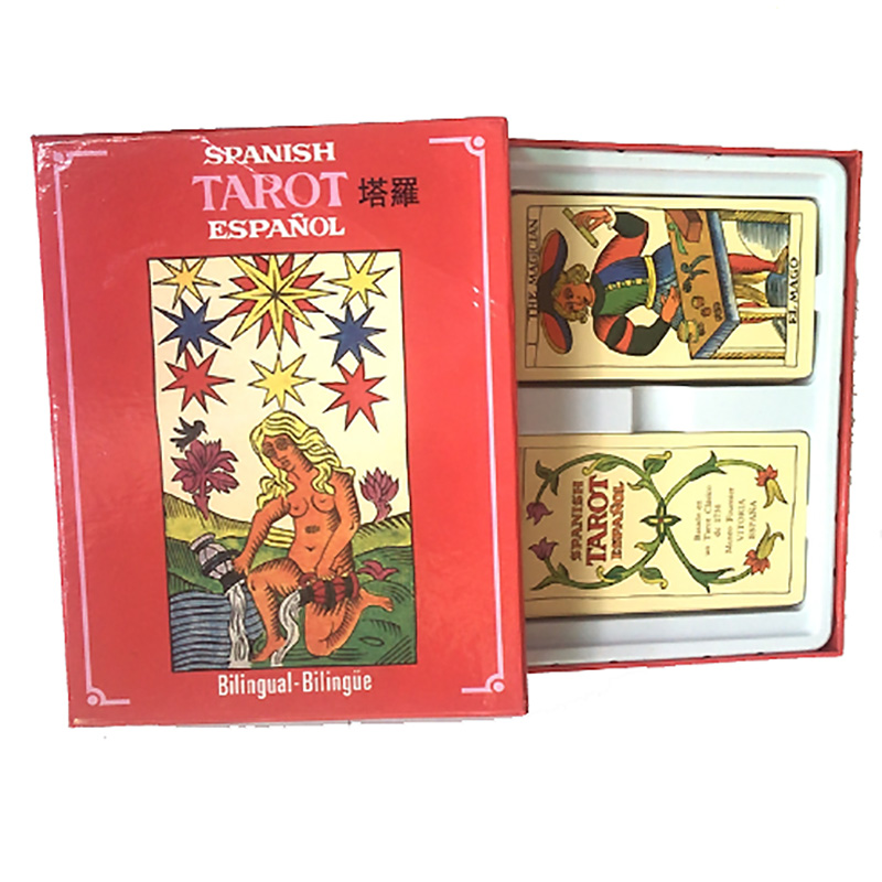 SPANISH Tarot Board Game 78+22 PCS/Set High Quality Cards Game Tarot Game with English/French/Spanish Edition Instructions