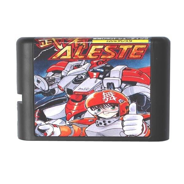 Aleste 16 bits MD Carte de Jeu Pour Sega Mega Drive Pour Genesis