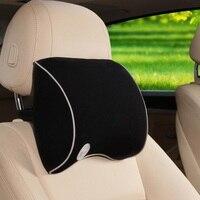 1 יחידות זיכרון חדשה כותנה השטח צוואר משענת ראש במכונית כרית כרית מושב רכב אספקת רכב משענת ראש כרית צוואר בטיחות אוטומטית כרית