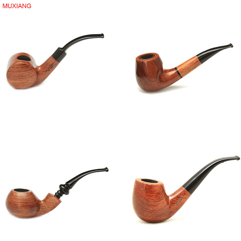 Muxiang 16 types free 10 smoking pipe tools bent rosewood for Kinds of pipes