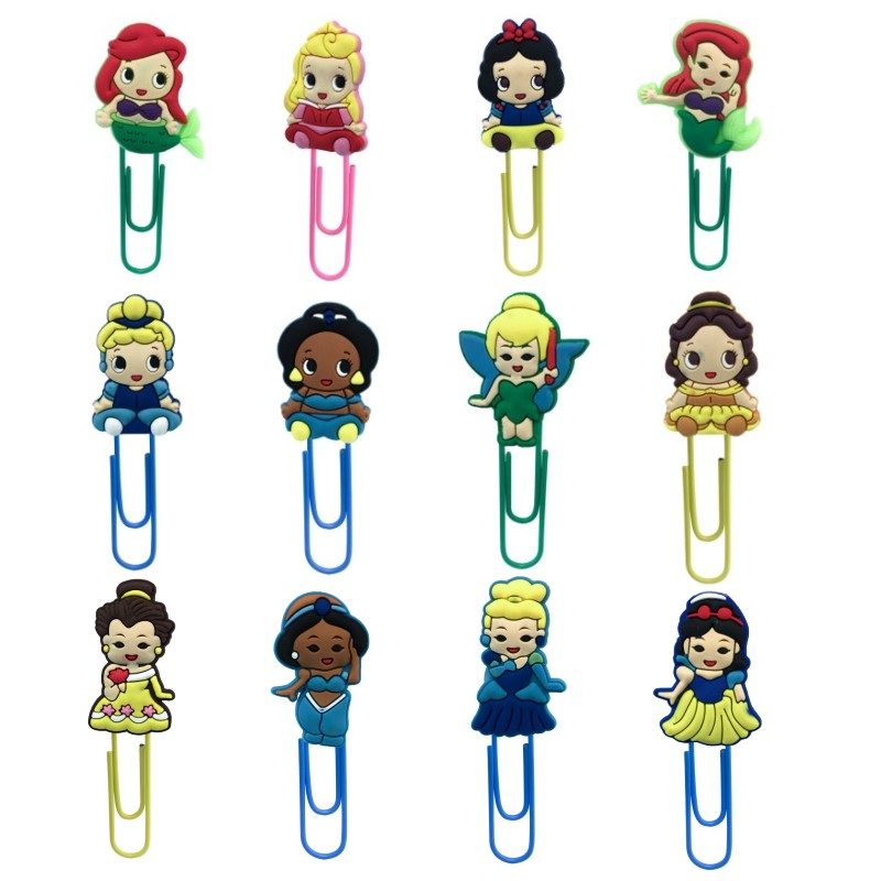 1pcs Pretty Girls Cartoon Paper Clips Super Cute Bookmarks Stationery For Office School Teacher Memo Clip Book Holder Kids Gift