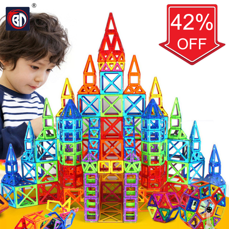 цены BD 118pcs Magnetic Blocks Educational Toys For Kids Christmas Gift Mini Magnetic Designer Construction Set Model & Building Toy
