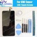 Umi Супер ЖК-Дисплей + Сенсорный Экран 100% Оригинальный ЖК-Дигитайзер Стеклянная Панель Замена Для Umi Супер + инструменты + клей