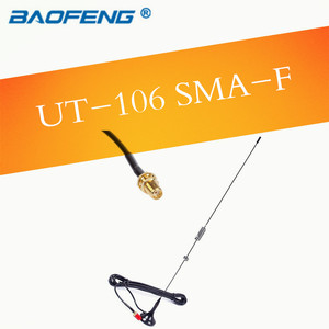 Nagoya UT-106UV antena de carro dupla banda vhf uhf rádio em dois sentidos walkie talkie macho sma-m antena para wouxun tyt vert
