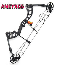 1pc 30-70lbs Archery Compound Bow Adjustable Adult Archery Equipment Right Hand Hunting Bow For Outdoor Archery Camping Shooting archery compound bow fully adjustable 40 70lbs 45 75lbs 55 85lbs dual cam compound bow ibo 350fps outdoor shooting accessories