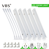 Full Spectrum Led Grow Light 6W T5 Tube Fitolampy for Plants 110V 220V led Phyto Lamps Hydroponic System Greenhouse Tent Lamp