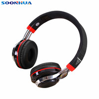 SOONHUA TM 021 Foldable Wireless Bluetooth Earphone Super Bass Headset FM Mode Function Headphone Support TF Card With LED Light