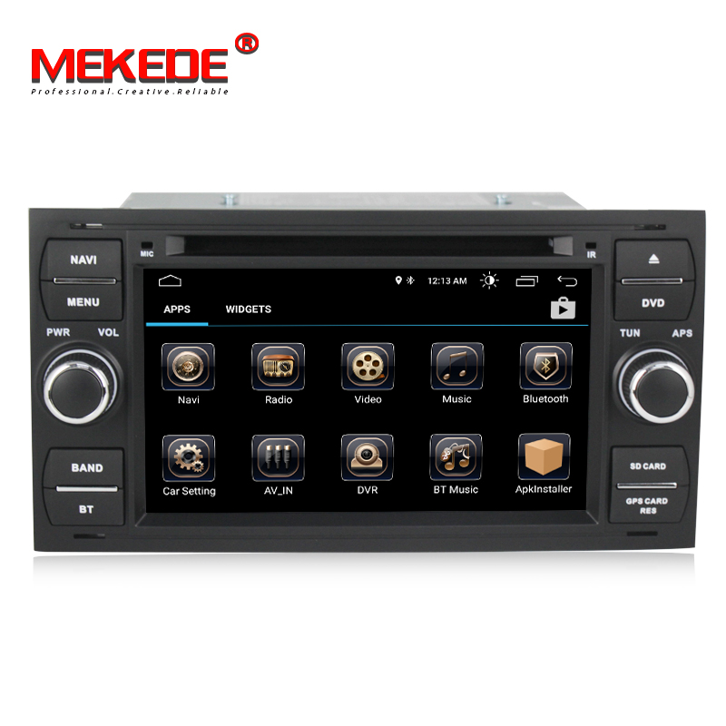 MEKEDE Pure Android 8.1 Car DVD GPS Navi Player Stereo Radio Audio For Ford Focus 2 Mondeo S C Max Fiesta Galaxy Connect With
