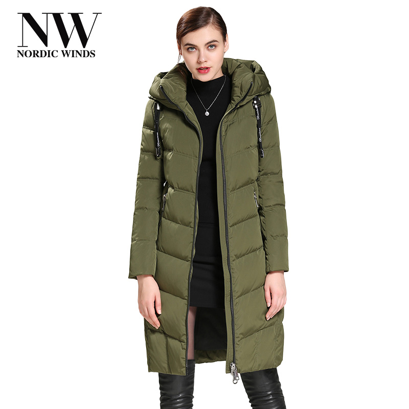 Nordic Winds Women's Down Coat 2017 Winter Long White Duck