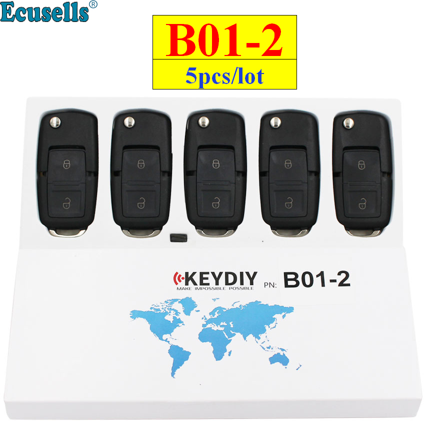 5pcs lot KEYDIY B series B01 2 2 button universal remote control for KD900 URG200 KD