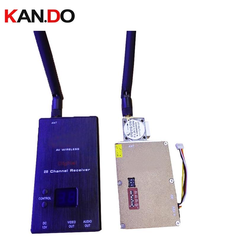 new 7W good ventilation 1.3G transceiver CCTV transmitter 1.3G image transmission drone Transmitter Receiver tx for FPV