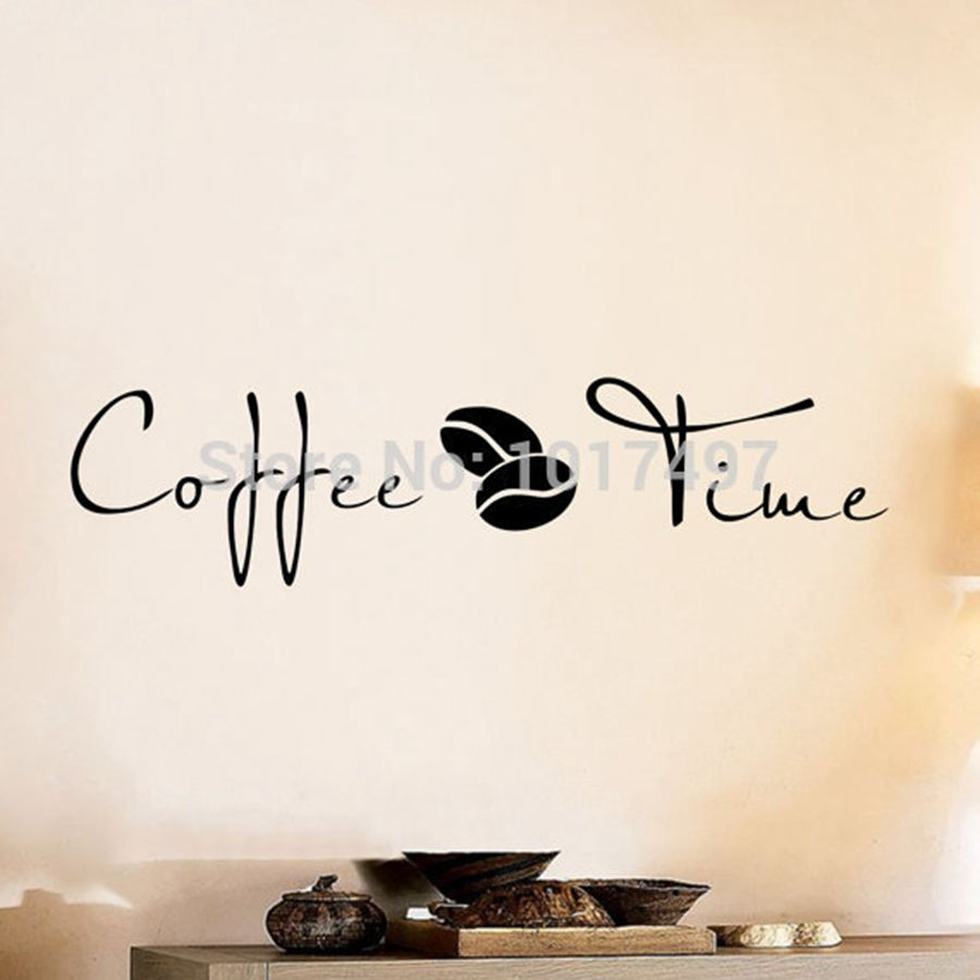Coffee wall art decal sticker vinyl coffee wall stickers for coffee wall art decal sticker vinyl coffee wall stickers for coffee shop or office decor free shipping f2072 in hair clips pins from beauty health on amipublicfo Images