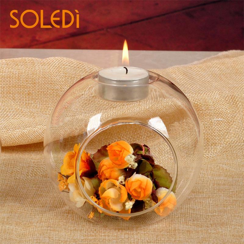 Скандинавский стол стеклянный подсвечник Террариум безделушка прозрачная ваза-подсвечник лампа свадебный домашний декор