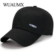 купить Wuaumx Simple Summer Autumn Baseball Caps Men Women Fashion Bone Snapback Fitted Hat Cotton The Rapper Hip Hop Cap Adjustable дешево