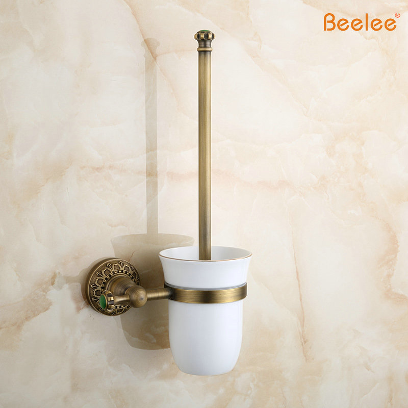 Beelee BA8304A New Arrival European Luxurious Bathroom Accessories Antique  Bronze Toilet Brush Holder Bath Products High Quality