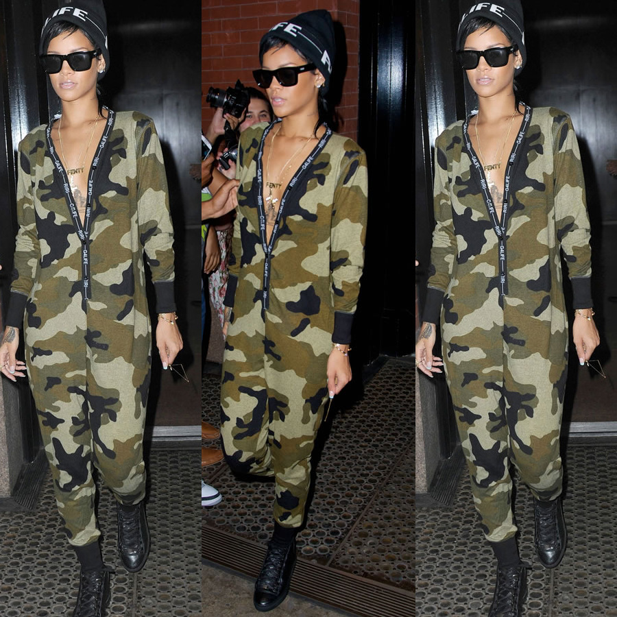 2016 New Arrival Autumn Cool Army Green Camouflage Jumpsuit Long