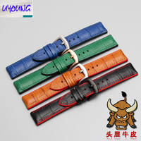 UYOGN leather pin buckle waterproof mechanical watch strap 18 | 19 | 20 | 21 | 22mm men and women models leather strap