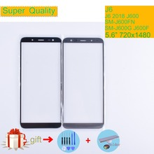 J6 For Samsung Galaxy J6 2018 J600 J600F SM-J600F/DS SM-J600G/DS Touch Screen Front Outer Glass TouchScreen Lens j6 LCD Front