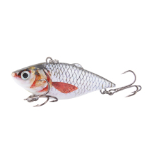 Купить с кэшбэком Fishing Lure 6.3cm VIB Crankbait 8.5g Lifelike High Quality Fishing Bait Slow Sinking Hard Fishing Wobbler Pesca minivib