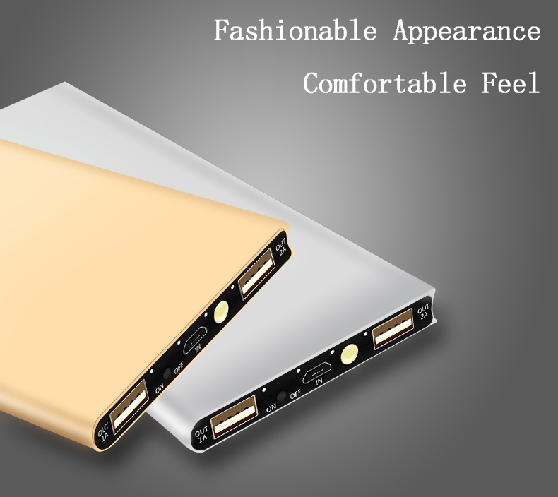 Waterproof 30000mAh Solar Power Bank in Metal Shell Design with Dual-USB Ports 4