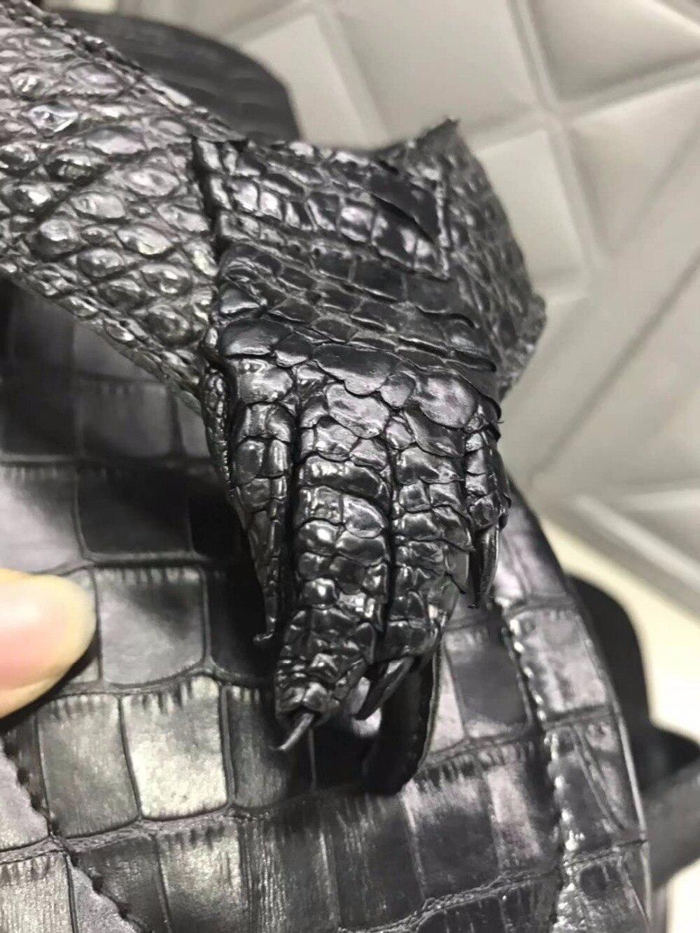 Noir Crocodile Réel Anti Homme Loisirs Solide Pour Ventre Couleur Fil Peau Du 100Véritable slide Hommes Chaussures Forte Base D'été f7gYb6yv