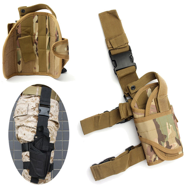 Right Drop Leg Adjustable Tactical Army Pistol Gun Thigh Holster Pouch Holder for Glock 17 19 31 32 most pistol 1