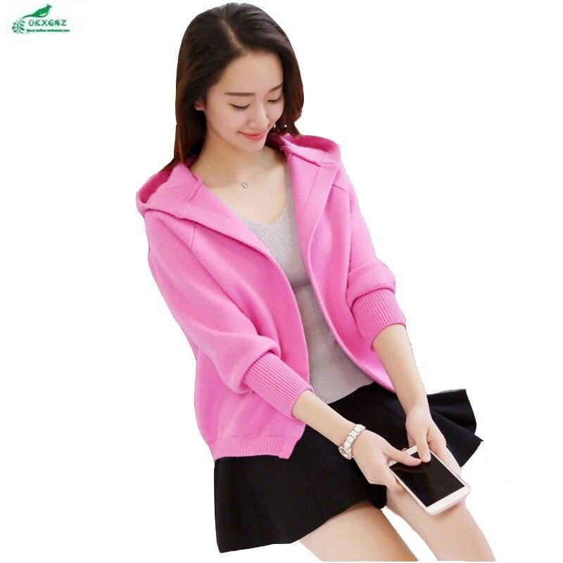Spring women sweater womens cardigan Cardigan short Outerwear female autumn sweater Korean loose coat female new wave OKXGNZ