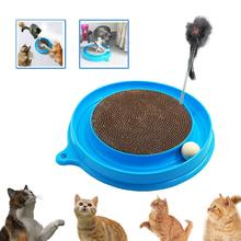Cat Turbo Scratcher Toy To Post Pad Interactive Training Exercise Mouse Play with and Ball