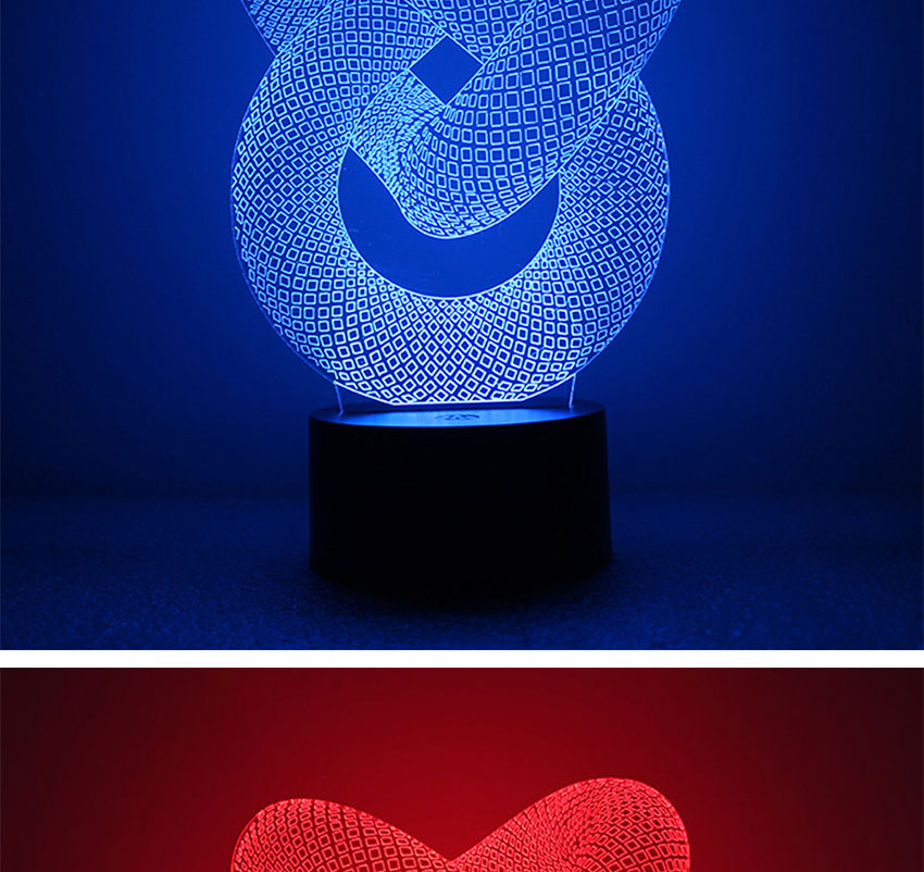 USB powered double heart isual illusion 3D night lamp LED lights with 7 colors changing Christmas gifts for kids children (10)