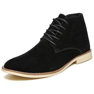 Image 2 - VESONAL Zapatillas altas de cuero para hombre, zapatos masculinos con felpa de pelo, cálidos, informales, clásicos, cómodos, para otoño e invierno, 2020