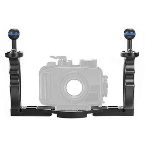 Image 4 - Suporte duplo para câmera canon, sony slr, à prova d água, estojo suporte para fotografia, mergulho, mergulho