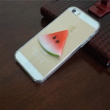 Вкусные горячие Продажи 3D Lemon арбуз Жесткий PC Прозрачный Телефон Обратно Case Фрукты Case Чехол Для Iphone 5C