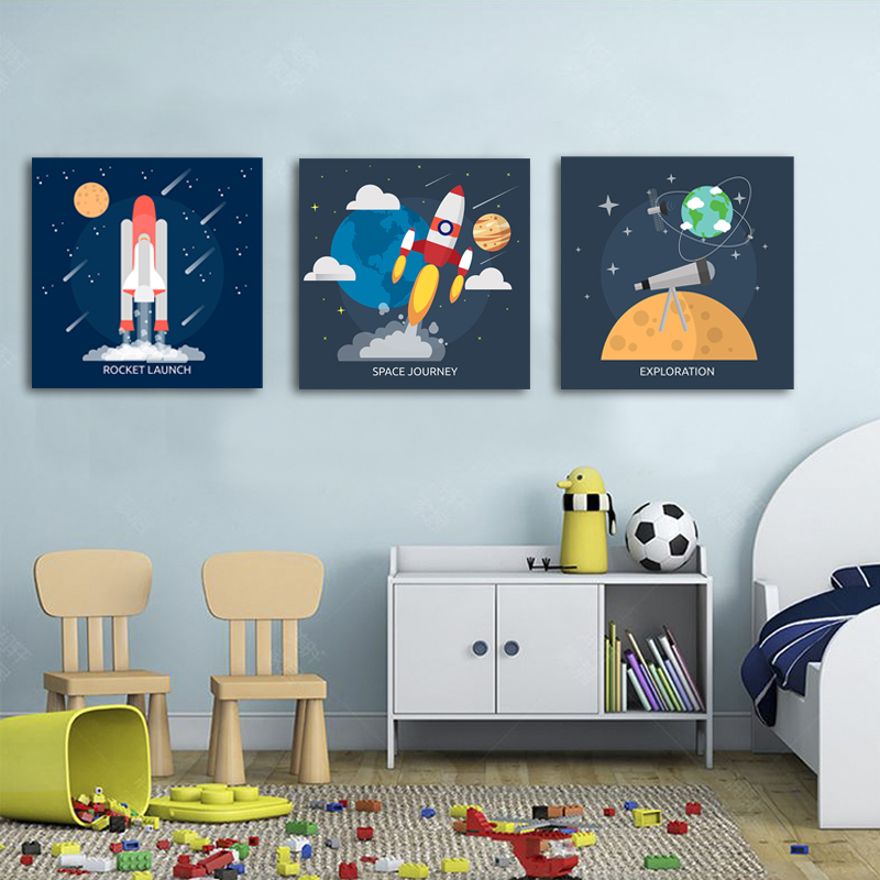 Science Nursery Art Canvas Painting