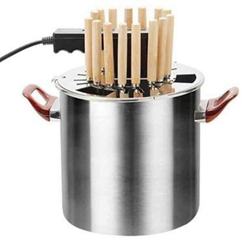 DMWD 220V Home Smokeless Rotisseries Stainless Steel Electric Barbecue Grill Electric Roast Kebab Machine For Family Party 1pc hot sale 100%quality guaranteed doner kebab slicer two blades electrical kebab knife kebab shawarma gyros cutter