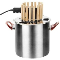 DMWD 220V Home Smokeless Rotisseries Stainless Steel Electric Barbecue Grill Electric Roast Kebab Machine For Family Party