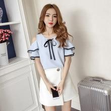 b2d0d33adb5 Missoov vestidos designer ladies brand summer style cute blouses women tops  chiffon sweet shirts bow blusas