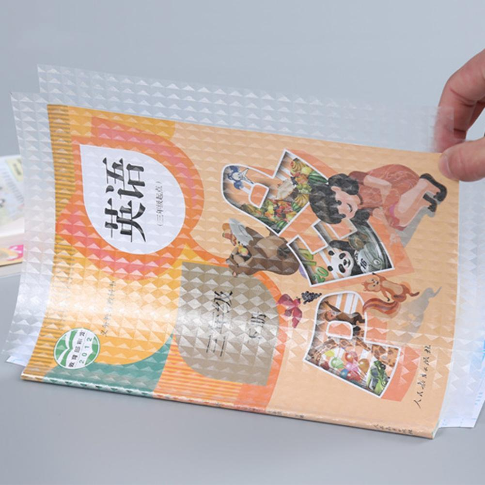 A4 10sheets/set Transparent Self-adhesive Film Book Cover Slipcase CPP Safety Waterproof Nubuck Material 16K/22K