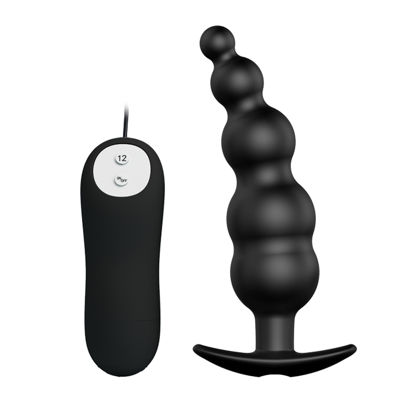 Anal Plug Prostate Massage Butt Plugs Black Silicone Soft Waterproof Erotic Toys for Anal Sex Toy 3